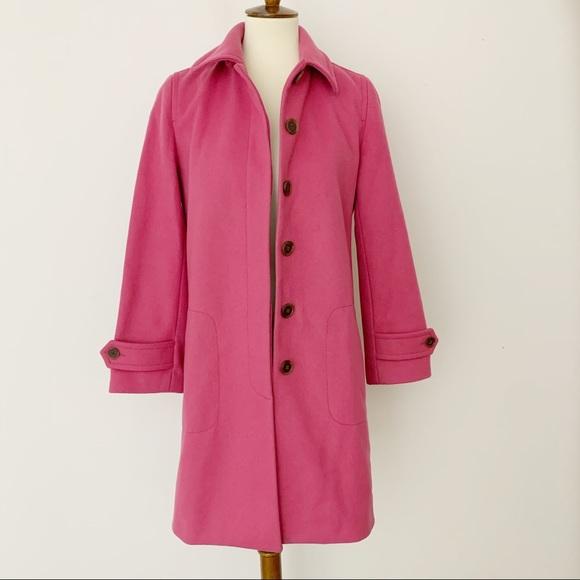 J. Crew Jackets & Blazers - J Crew Pink Wool Coat